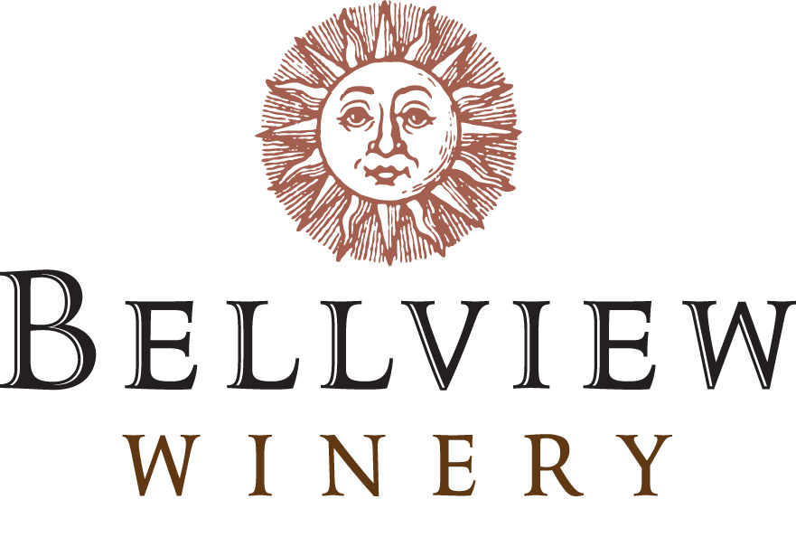 Logo in faded square with winery name